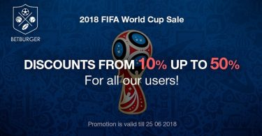 BetBurger discounts for WC 2018