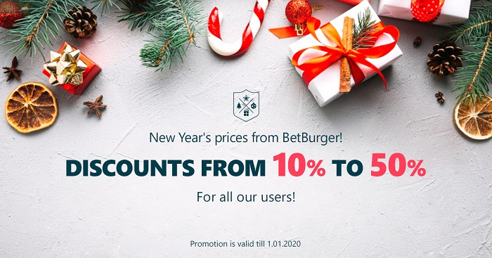 Christmas and New Year Sale from BetBurger